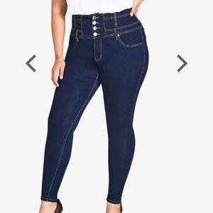 Corset skinny short Harley jean